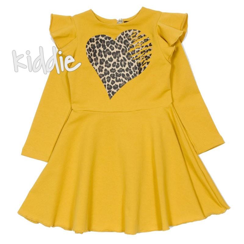 Детска рокля Сърце Contrast