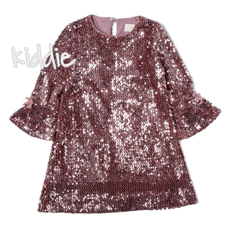 Детска рокля Contrast с пайети