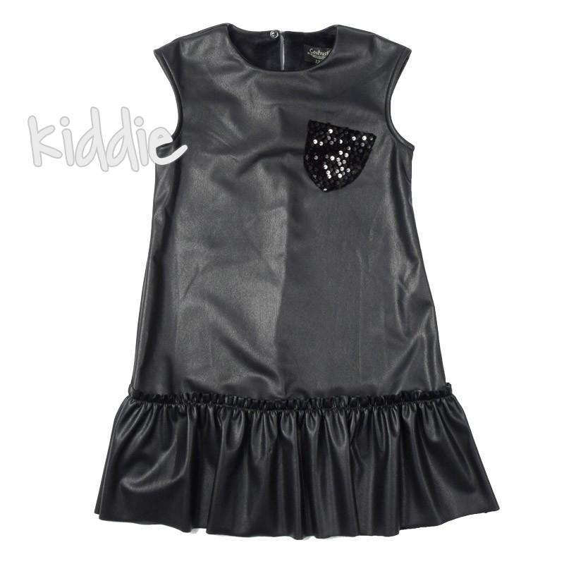 Детска кожена рокля Contrast