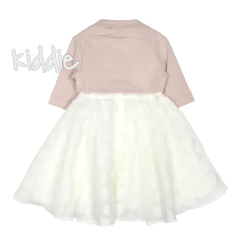 Детска рокля Contrast с болеро и брошка