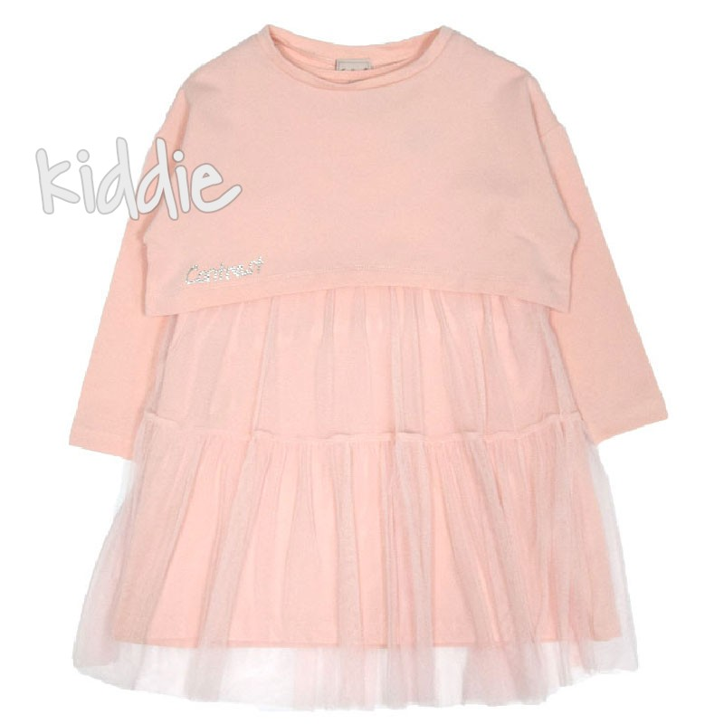 Детска рокля Contrast с къса блуза