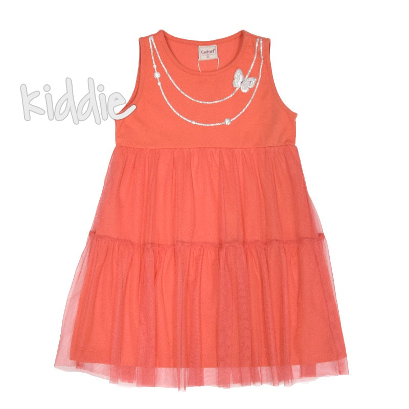 Детска рокля Contrast с блуза и лого