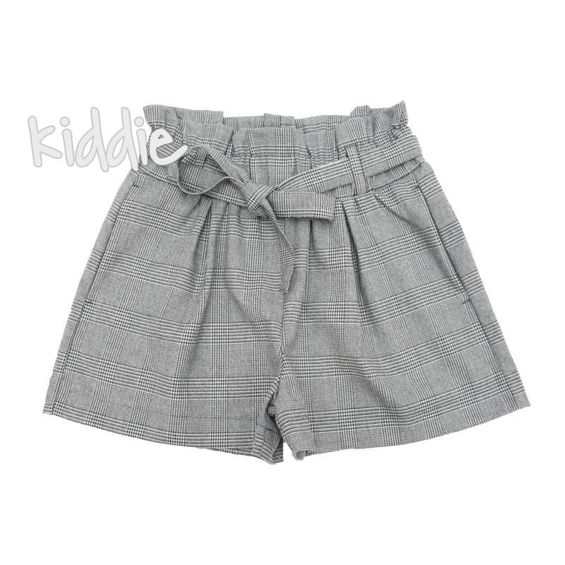 Детски къси панталони с висока талия Contrast за момиче