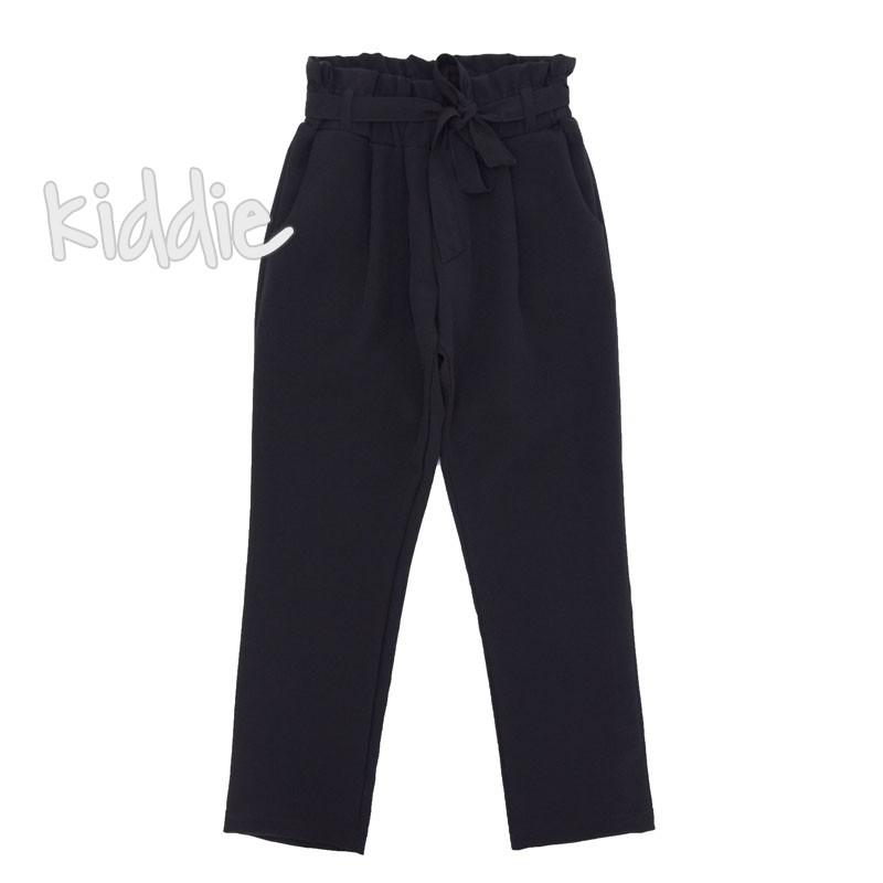 Детски панталон Contrast за момиче с висока талия