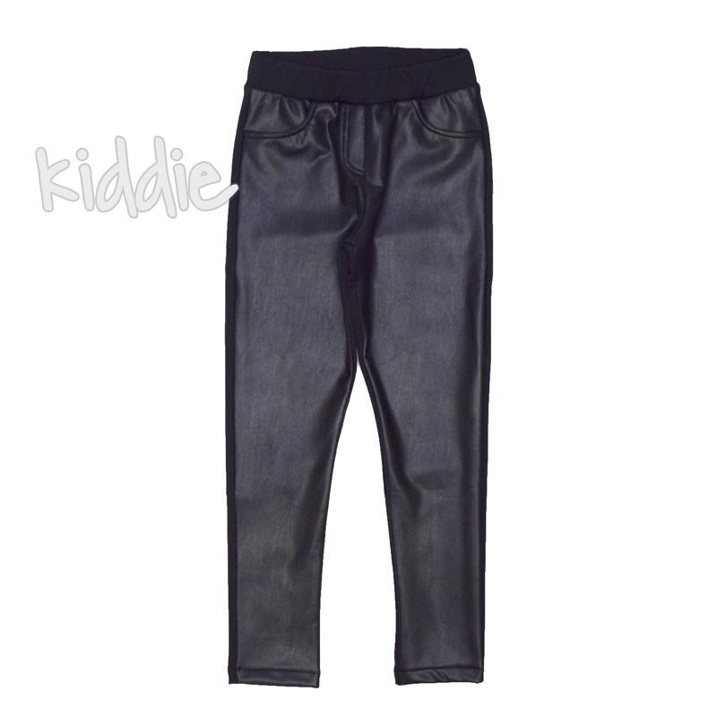 Детски кожен клин-панталон Contrast