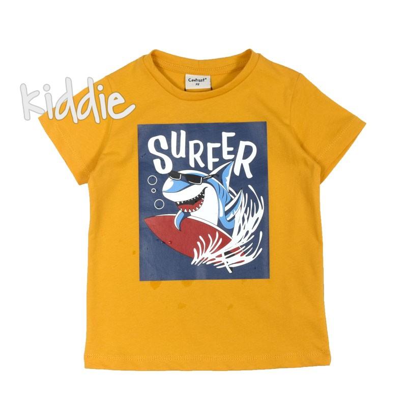 Детска тениска за момче Contrast Surfer