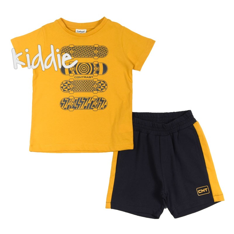 Детски комплект Contrast за момче с къси панталони
