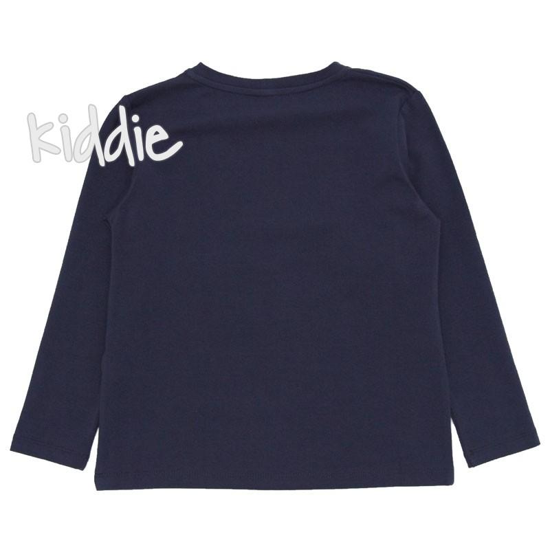 Детска блуза Contrast за момче с дълъг ръкав