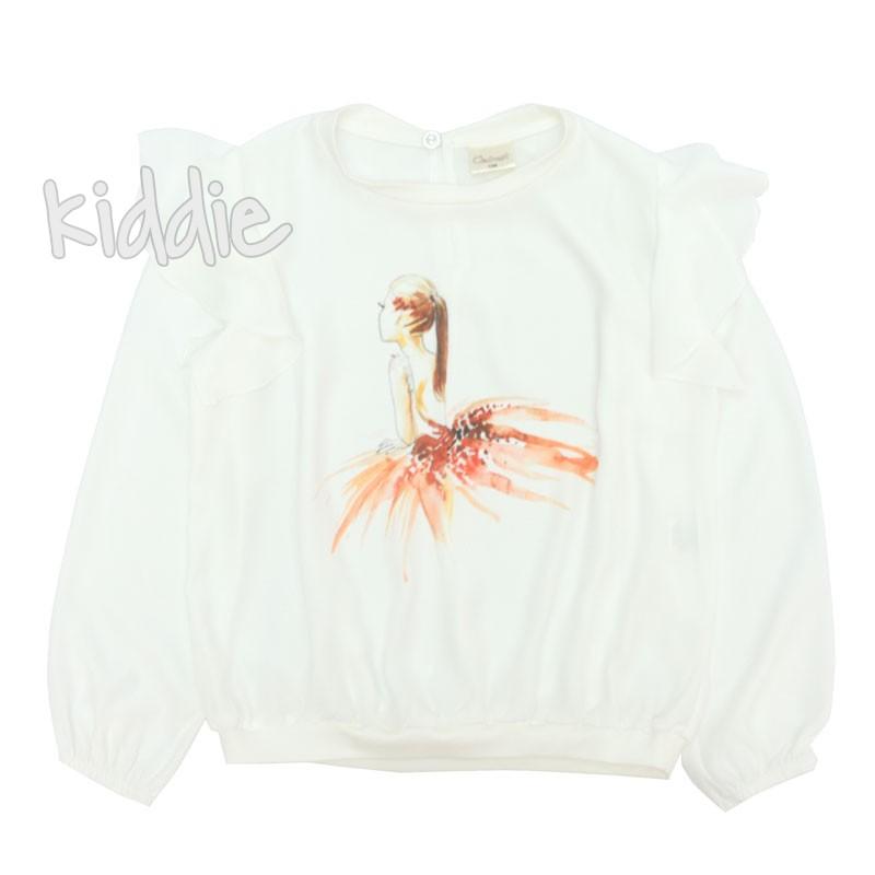 Детска ефирна блуза Contrast за момиче