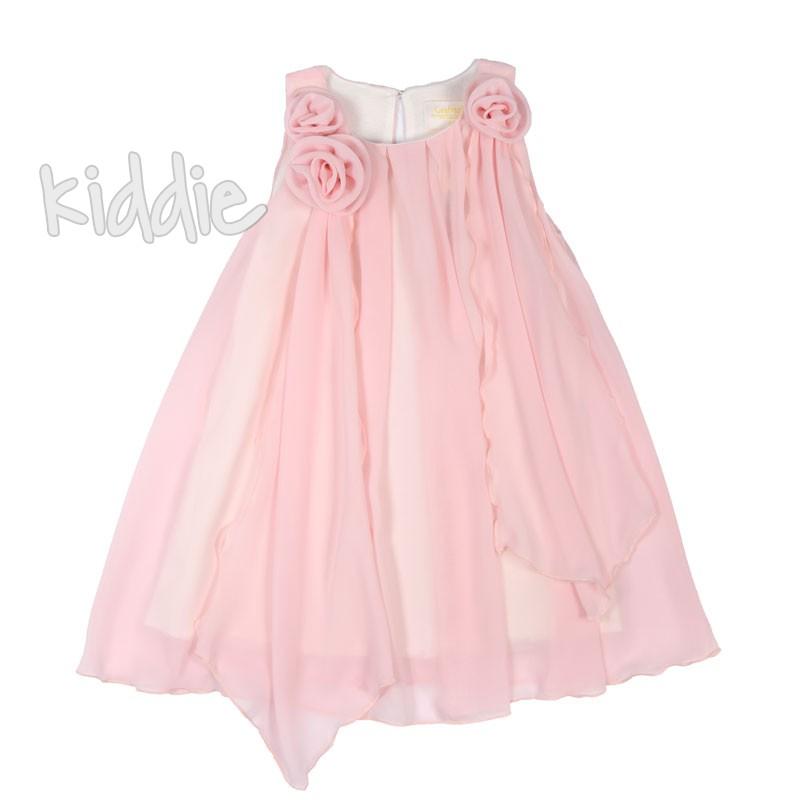 Детска рокля Contrast с рози