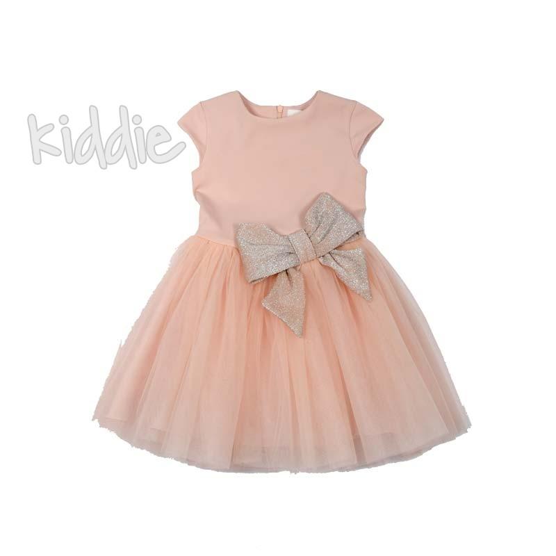 Бебешка рокля Contrast с панделка на талията
