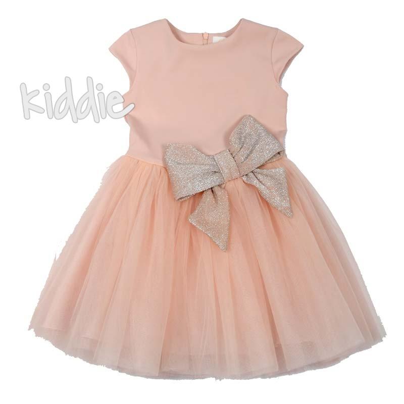 Ефектна детска рокля Contrast с панделка