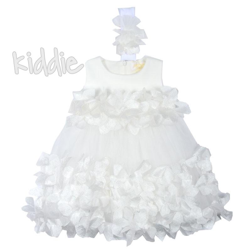 Красива бебешка рокля с декорации Contrast