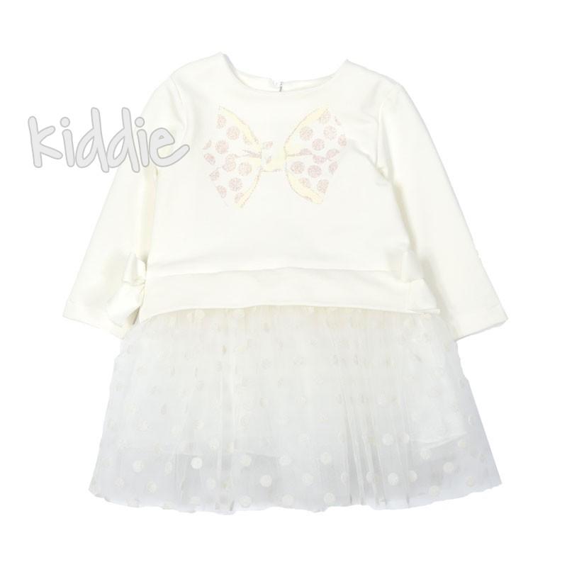 Бебешка рокля Contrast с тюл и точки