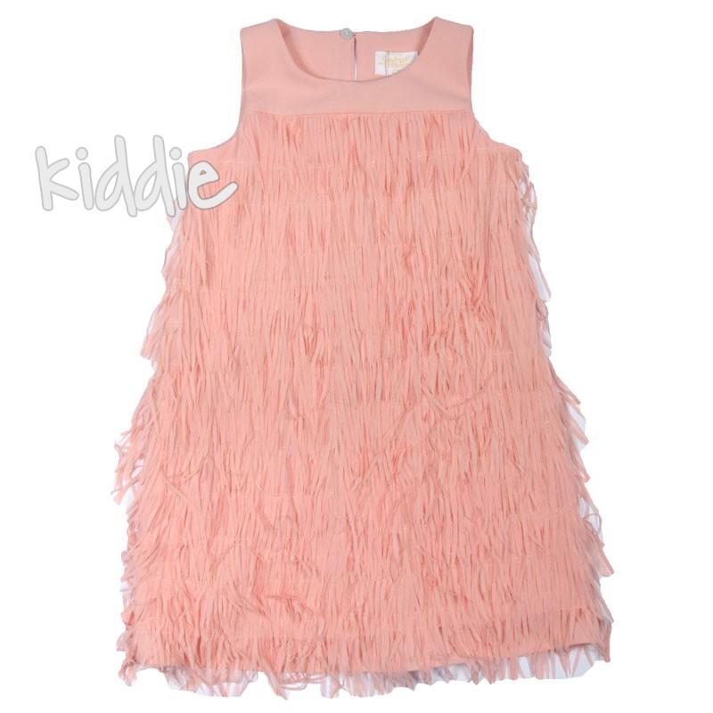 Красива детска рокля с ресни Contrast