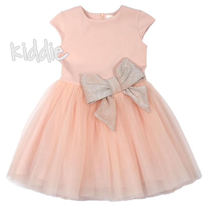 Детска рокля Contrast с тюл и панделка