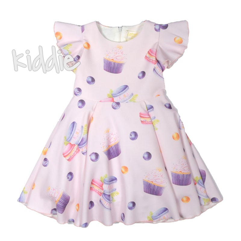 Детска рокля Contrast френски макарони