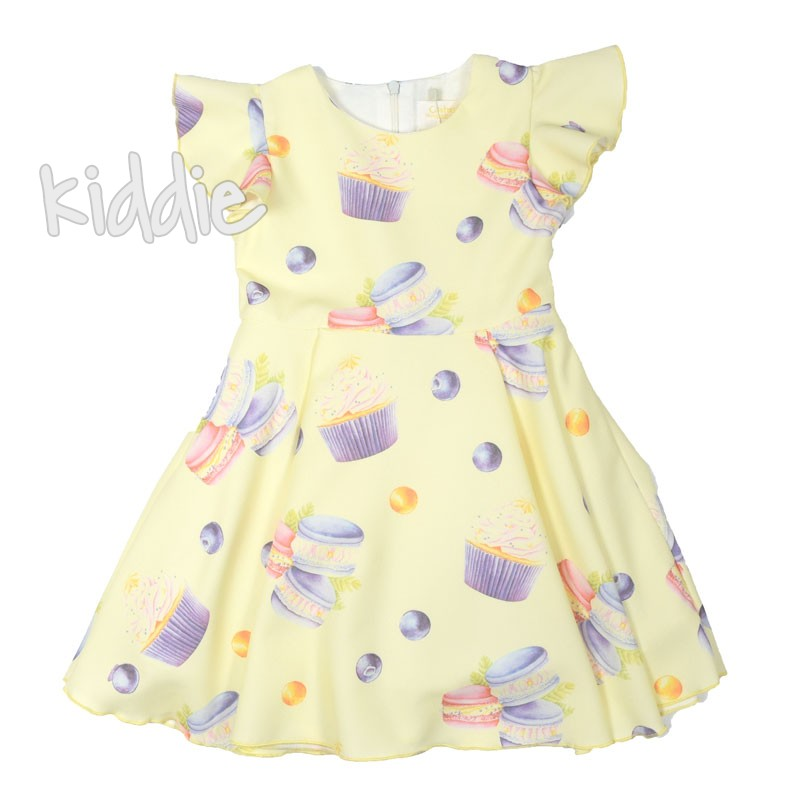 Детска рокля френски макарони Contrast