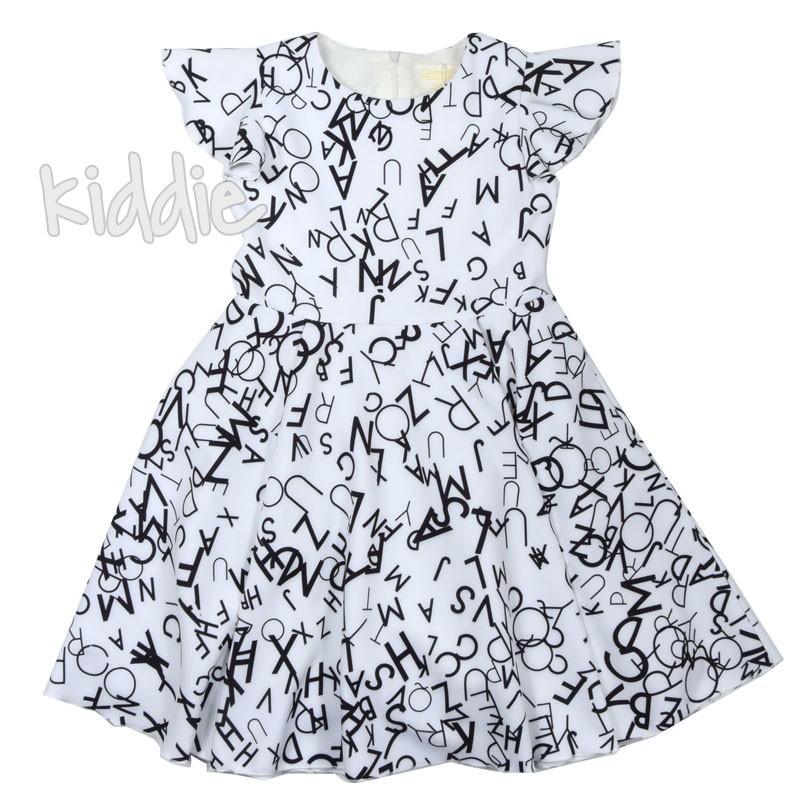 Детска рокля Contrast с букви
