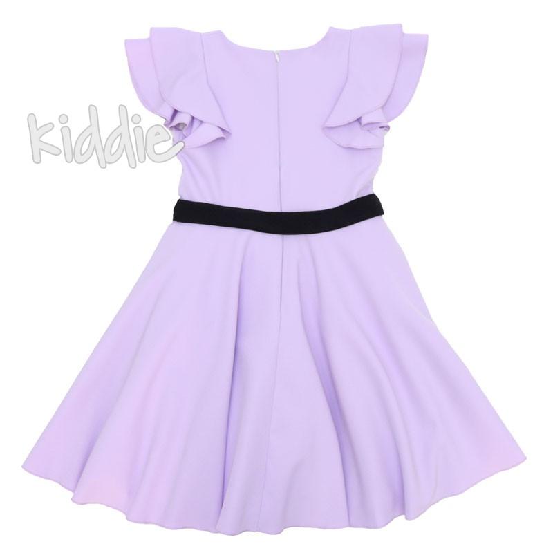 Детска рокля Contrast с колан