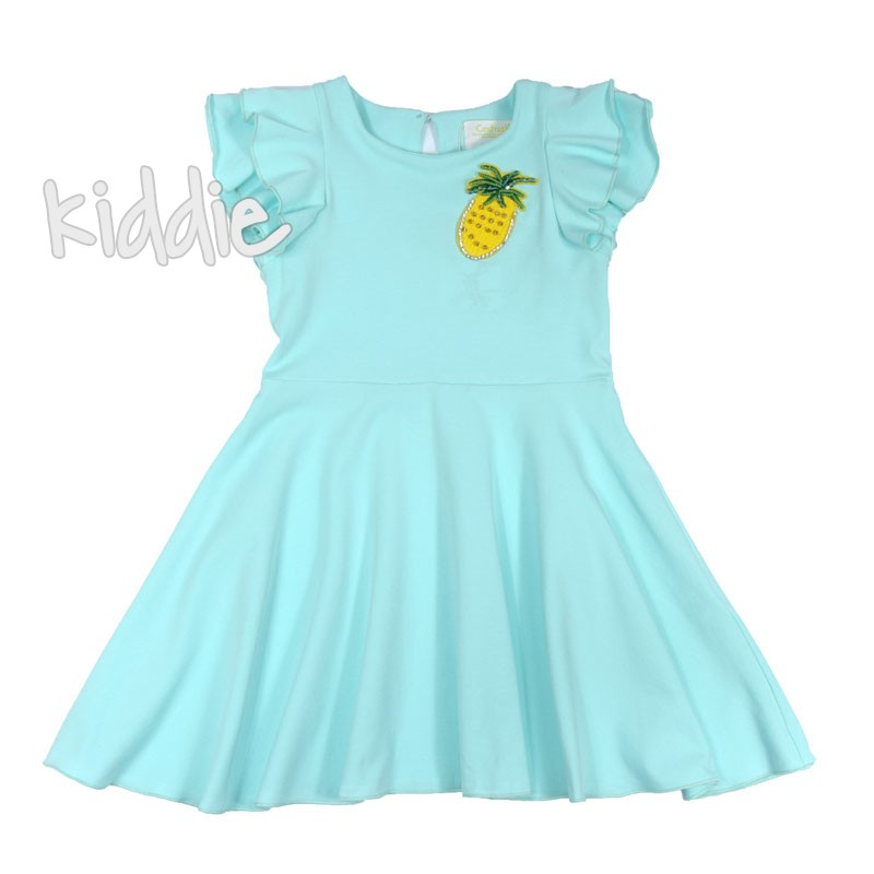 Детска рокля Contrast с цветна щампа