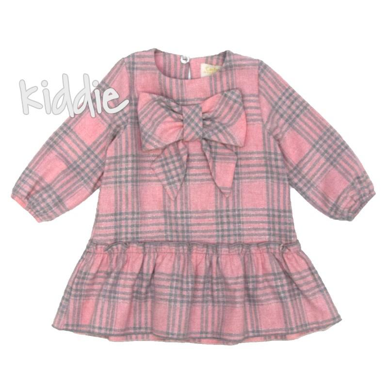 Бебешка карирана рокля Contrast