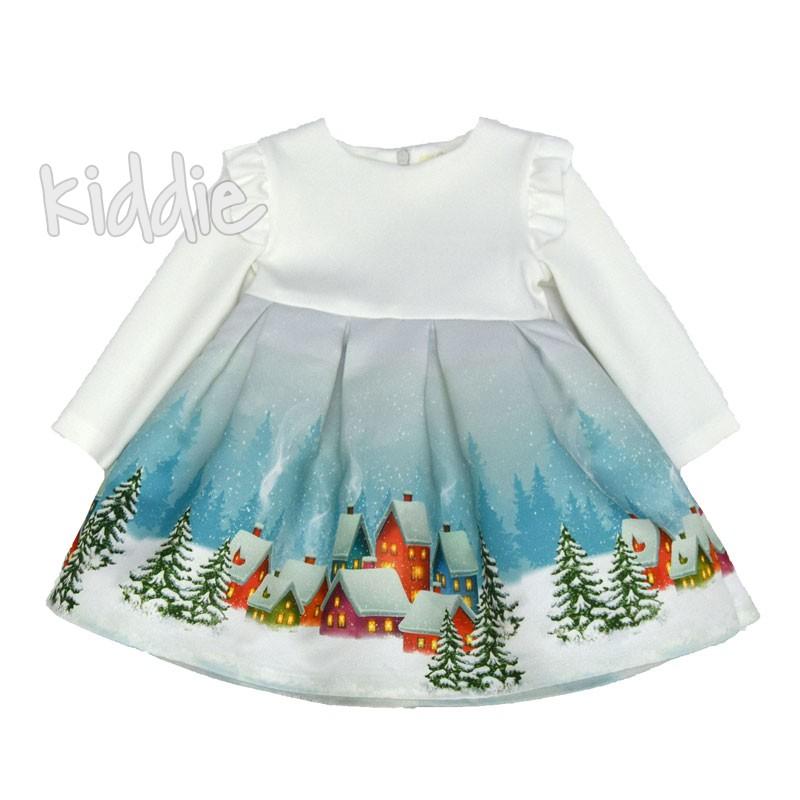 Детска Коледна рокля Contrast с принт