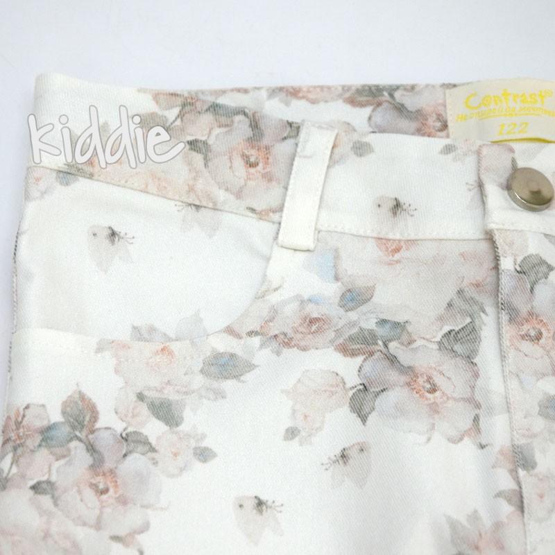 Детски панталон Contrast на цветя за момиче