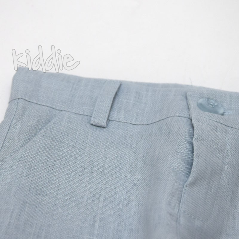 Детски ленен панталон за момче Contrast