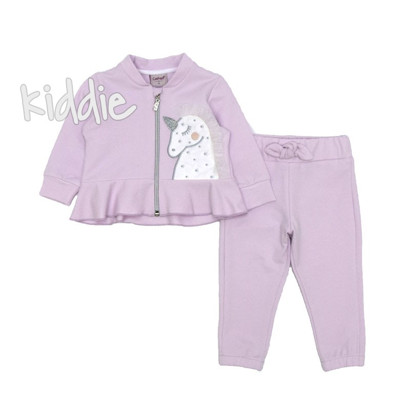 Бебешки комплект Еднорог Contrast за момиче
