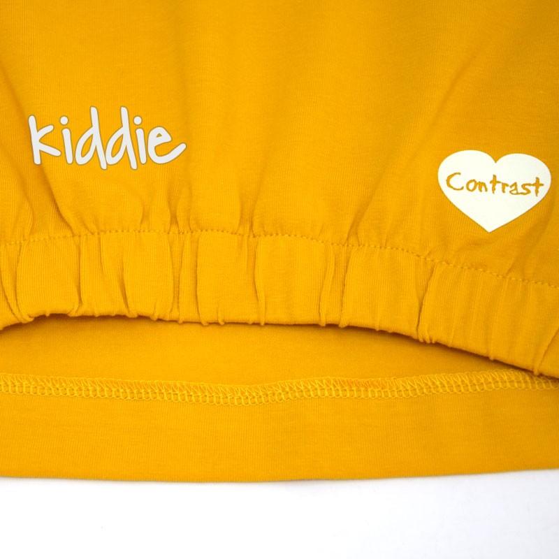 Детски комплект Contrast за момиче с клин и щампа на сърце