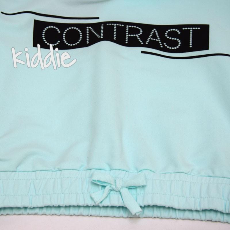 Детски комплект Contrast за момиче с долнище