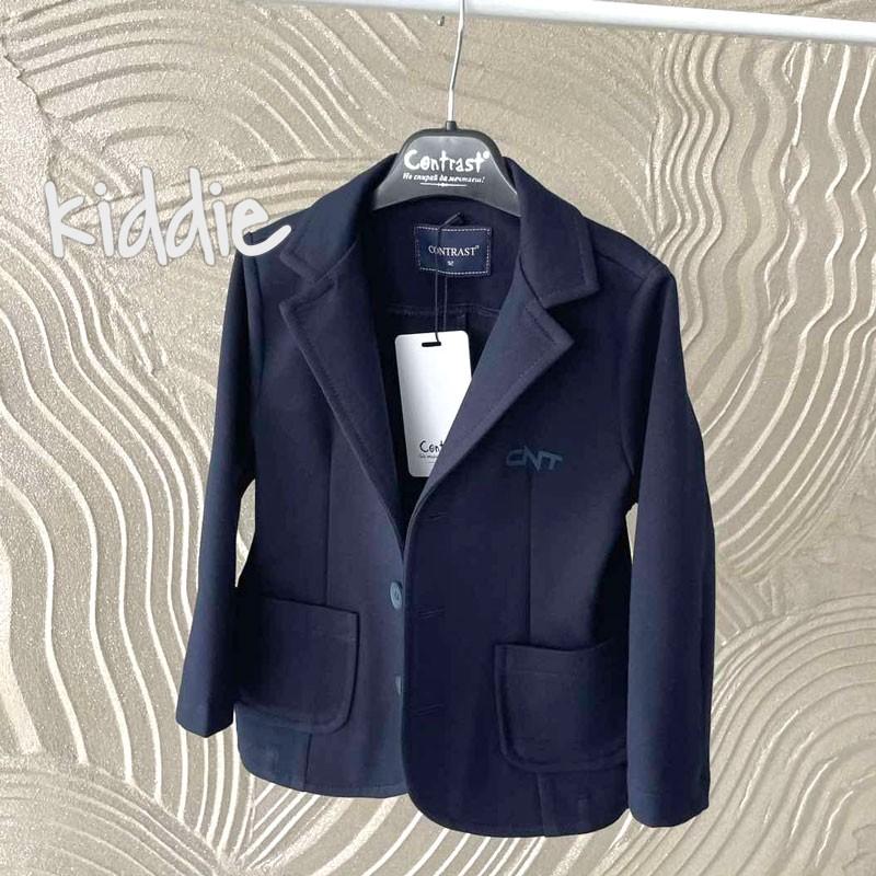 Детско сако Contrast за момче с лого