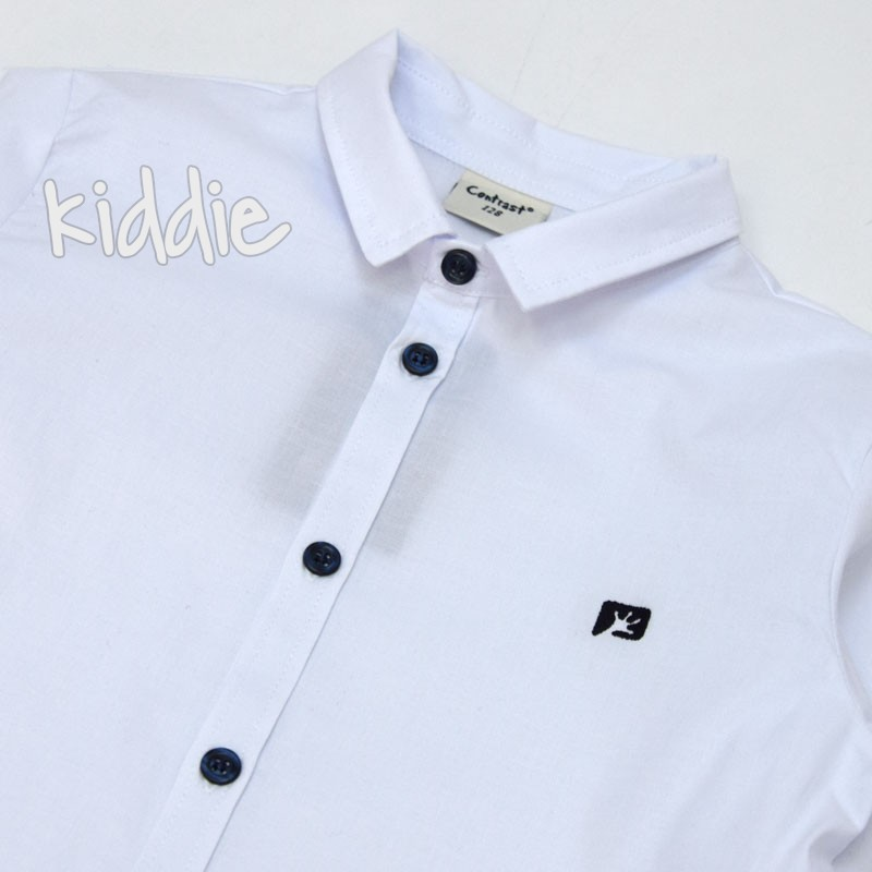 Детска риза Contrast за момче с лого