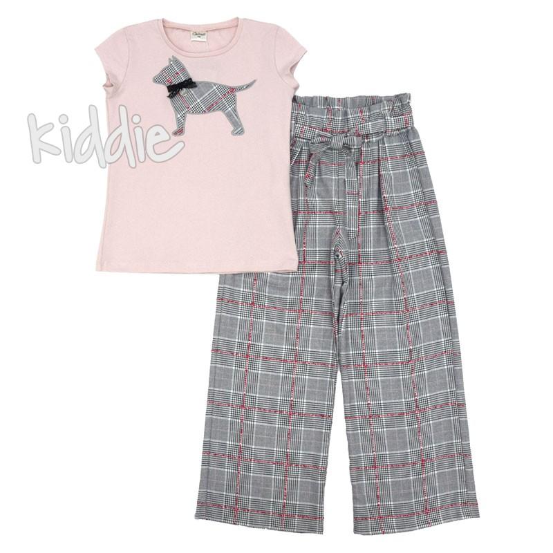 Детски комплект Contrast с панталон за момиче