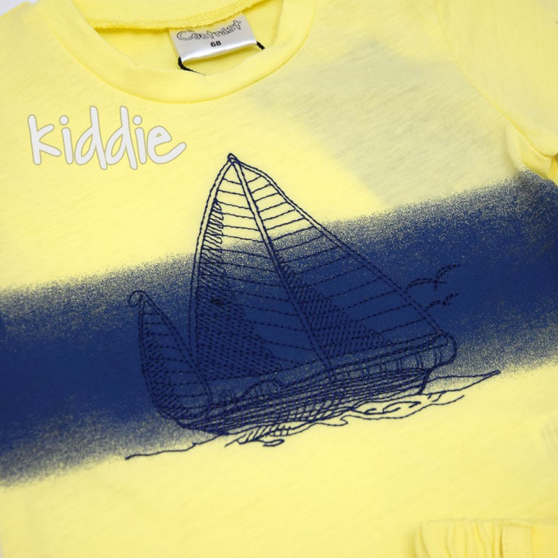 Детски комплект Contrast за момче с лодка