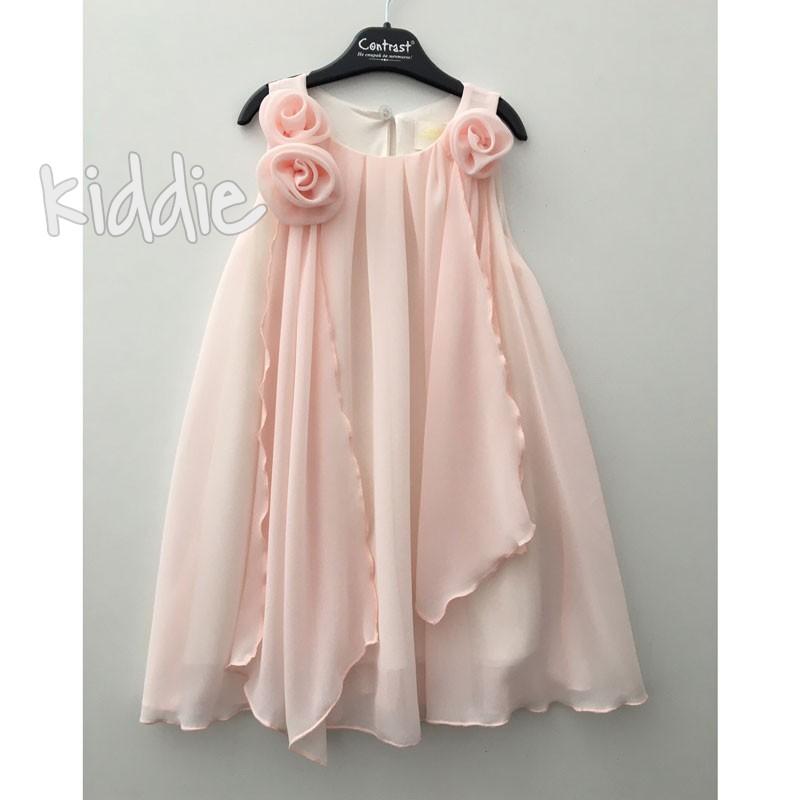Детска рокля Contrast с нежни волани