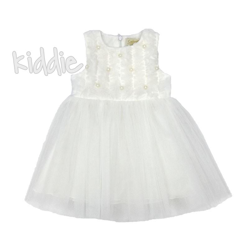 Официална бебешка рокля Contrast