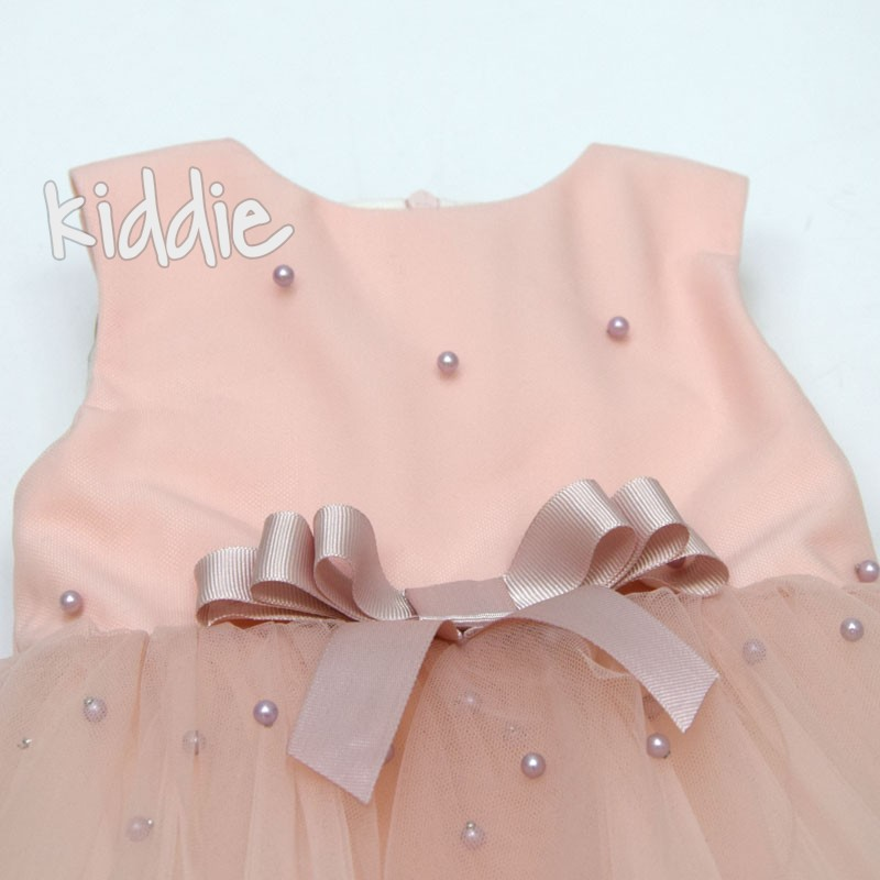 Детска рокля с перли Contrast