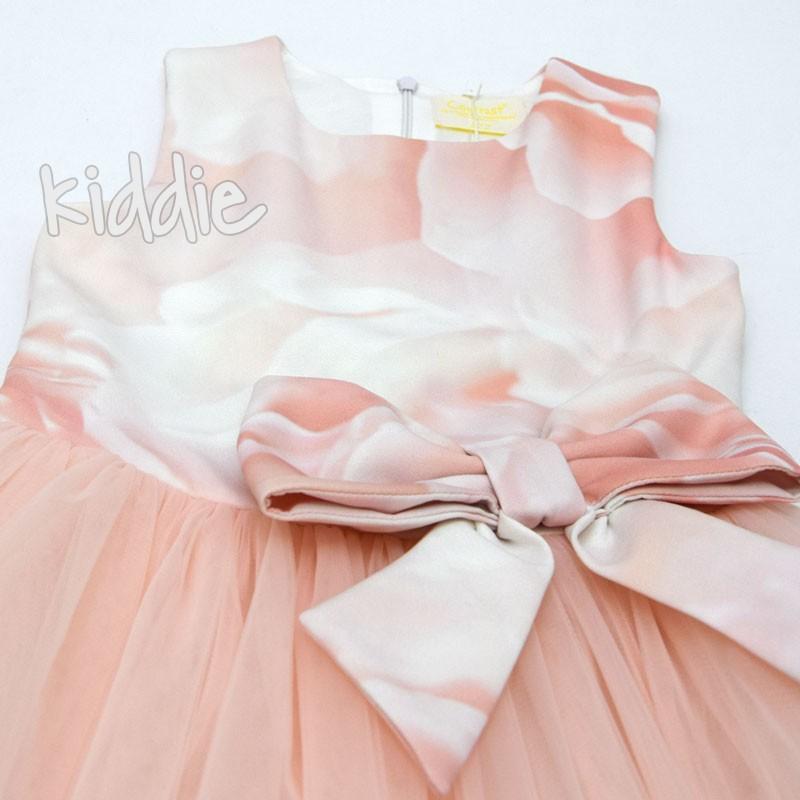 Детска рокля Contrast с тюл и голяма панделка