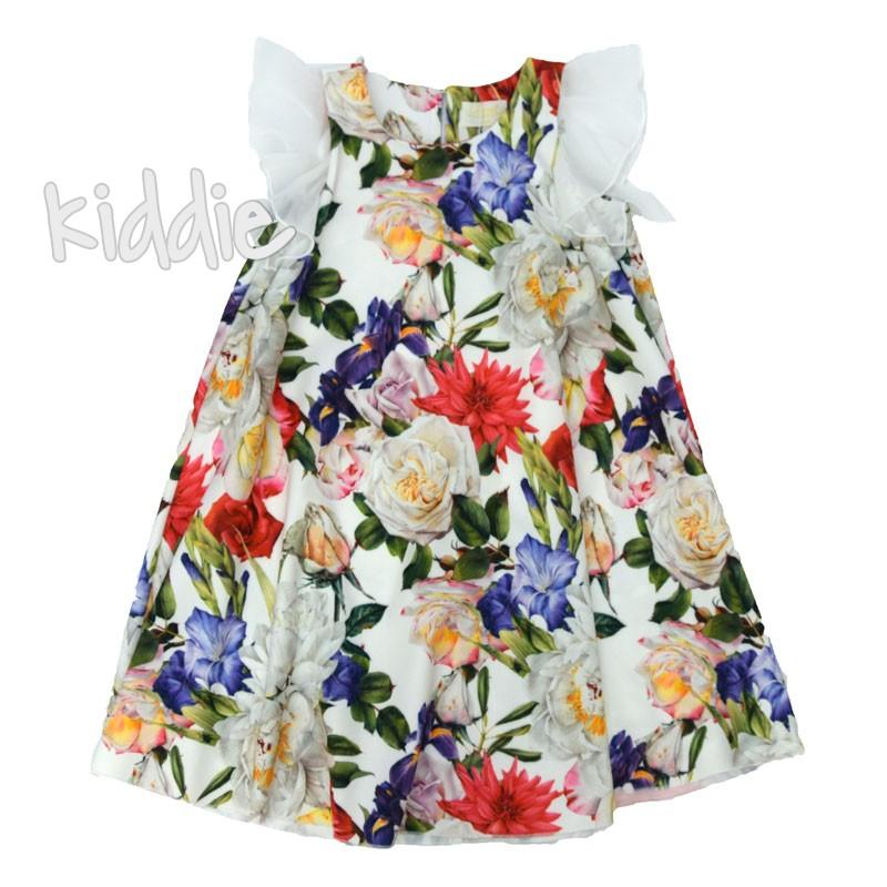 Детска свободна рокля Contrast с принт