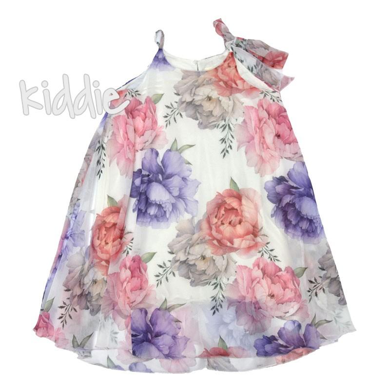 Детска рокля с тънки презрамки Contrast