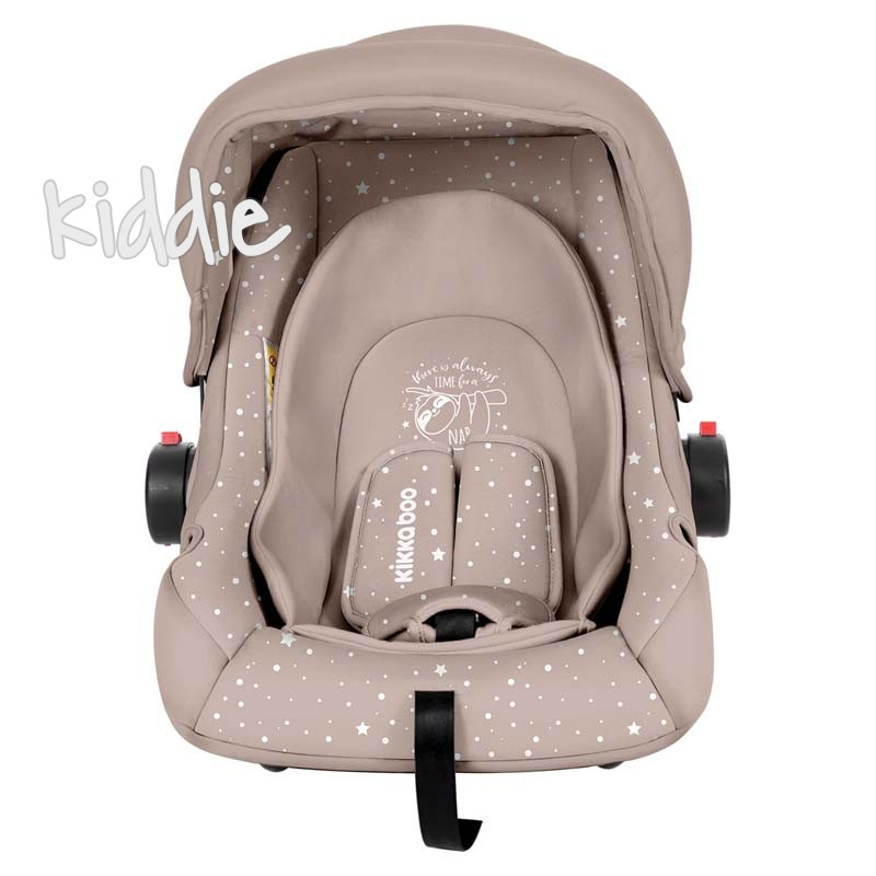 Стол за кола Kikkaboo 0с 0-13 кг Little Traveler Beige Sloth 2020