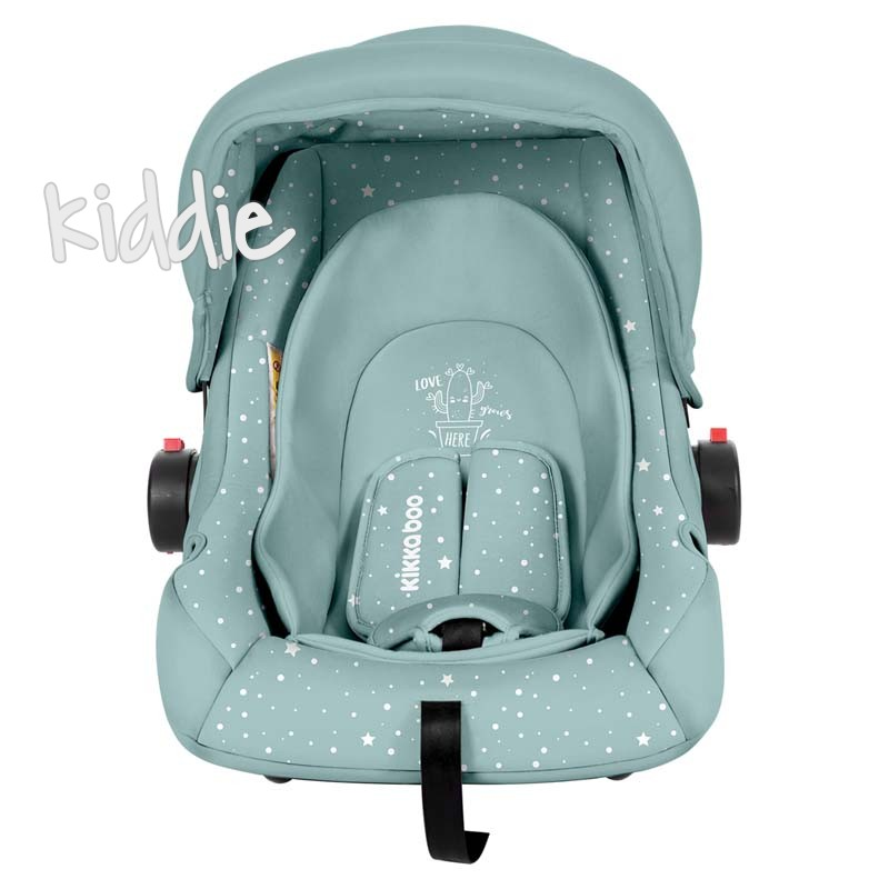 Стол за кола Kikkaboo 0с 0-13 кг Little Traveler Mint Cactus 2020