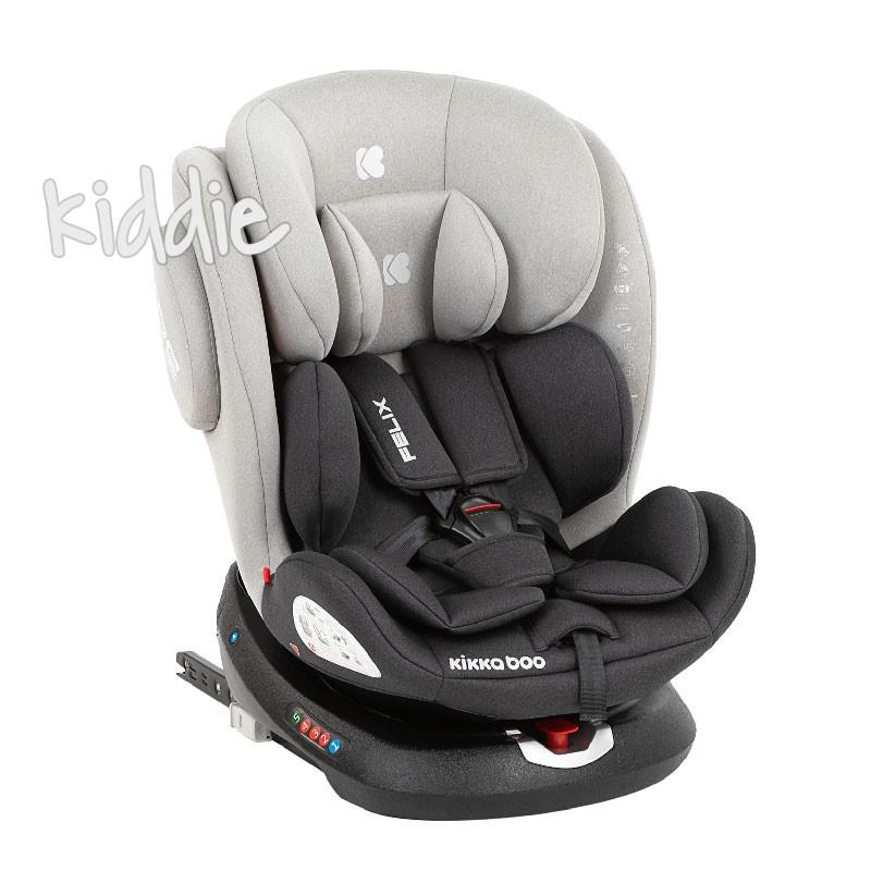 Стол за кола 0-1-2-3 0-36 кг Felix Light Grey 2020 Kikkaboo