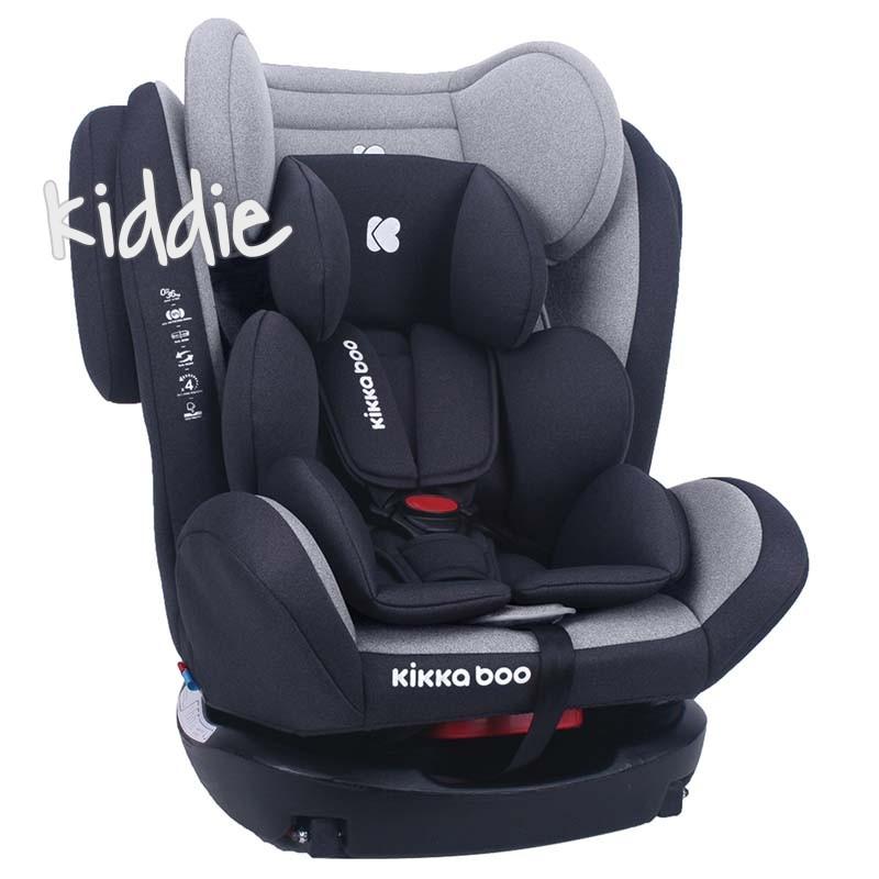 Стол за кола Kikkaboo 0-1-2-3 0-36 кг 4 Fix Light Grey 2020