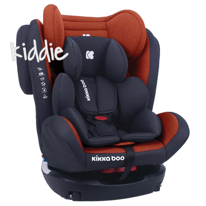 Стол за кола Kikkaboo 0-1-2-3 0-36 кг 4 Fix Orange 2020