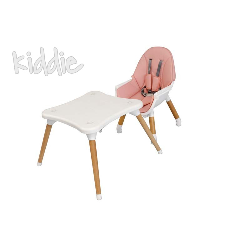 Столче за хранене Multi 3in1 Pink Kikkaboo