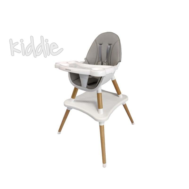 Столче за хранене Multi 3in1 Grey Kikkaboo