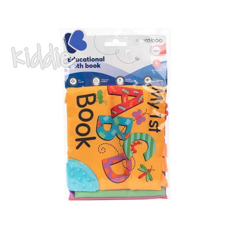 Образователна текстилна книжка с чесалка Kikkaboo ABC